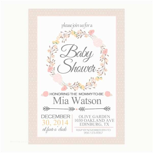 Floral Baby Shower Invitations 19 Baby Shower Cards Free Psd Vector Ai Eps format
