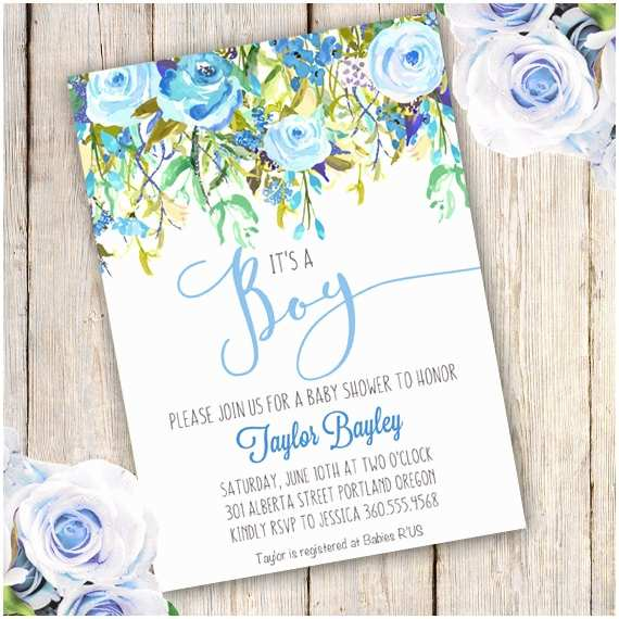 Floral Baby Shower Invitations Baby Shower Boy Invitation Template Boy Templateparty