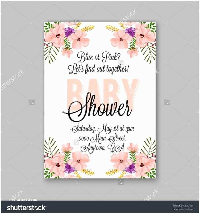 Floral Baby Shower Invitations Baby Shower Invitation Template with Watercolor Flower