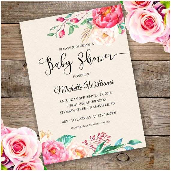Floral Baby Shower Invitations Best 25 Baby Shower Invitation Templates Ideas