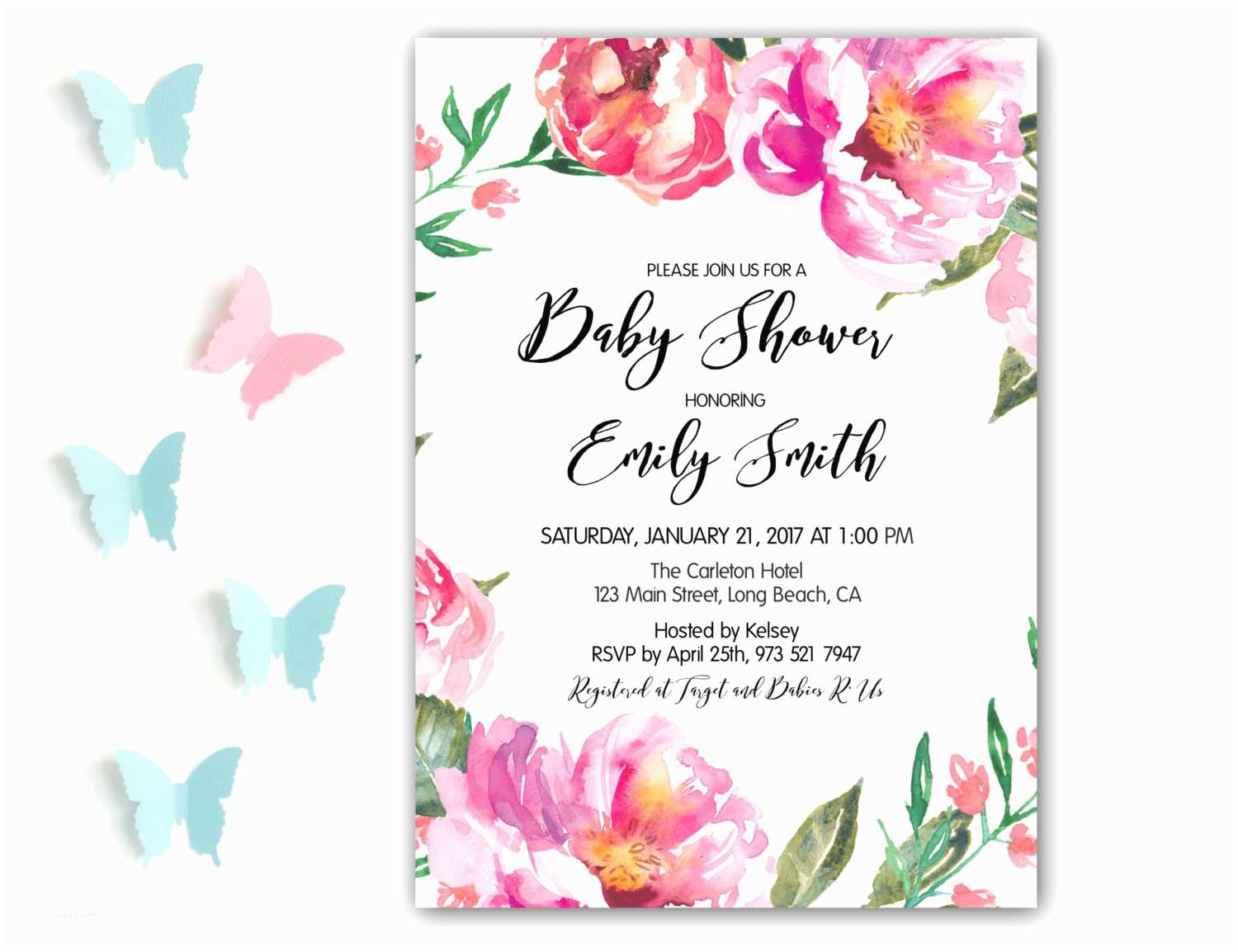 Floral Baby Shower S Floral Baby Shower  Girl Baby Shower