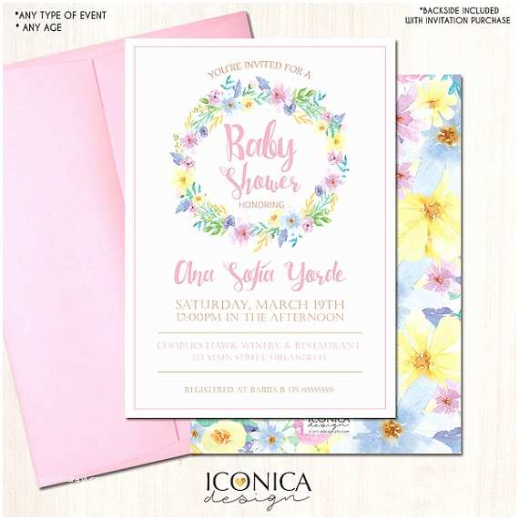 Floral Baby Shower Invitations Floral Baby Shower Invitation