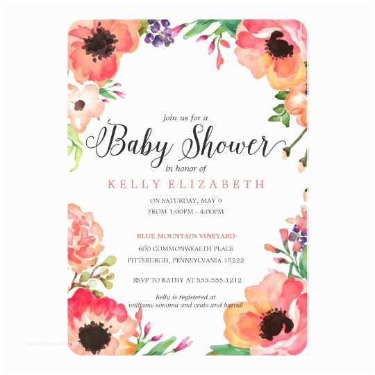 Floral Baby Shower S Modern Watercolor Floral Baby Shower