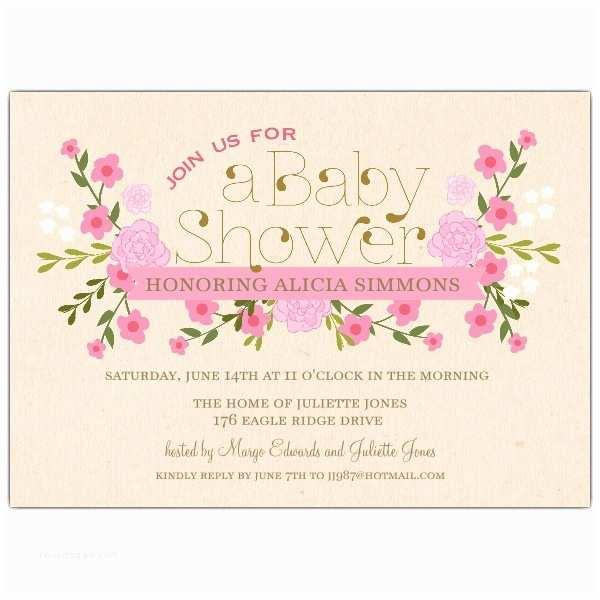 Floral Baby Shower  Vintage Pink Floral Baby Shower