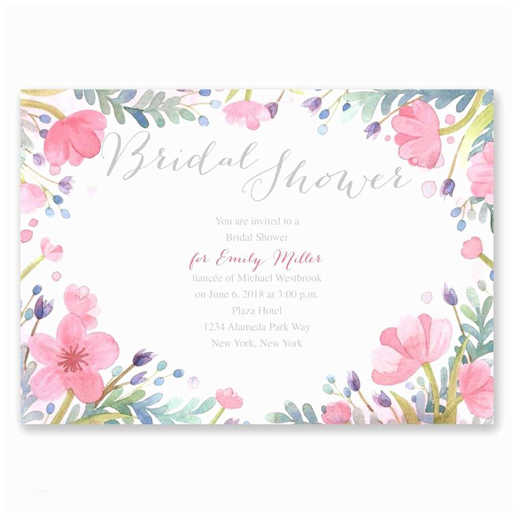 Floral Bridal Shower Invitations Collection Pastel Floral and