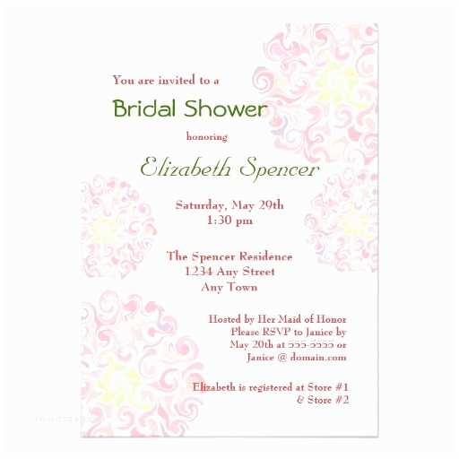 "Floral Bridal Shower Invitations Ruffled Dahlia Floral Bridal Shower Invitation 5"" X 7"