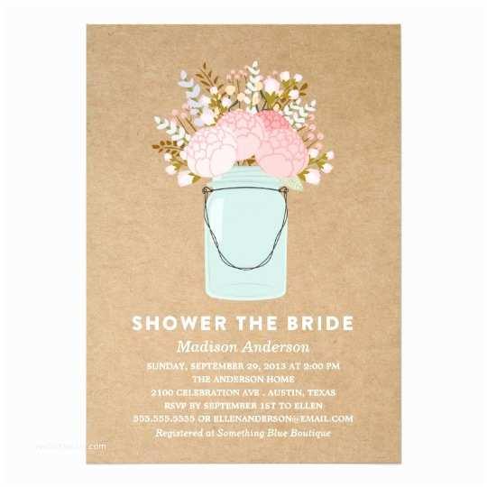 Floral Bridal Shower Invitations Rustic Flowers Bridal Shower Invitation