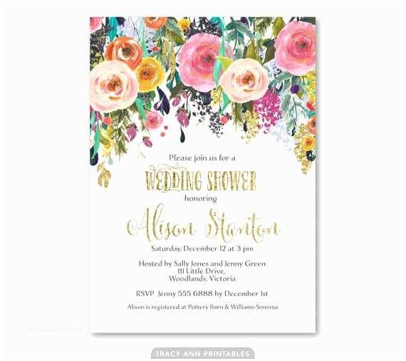 Floral Bridal Shower Invitations Wedding Shower Invitation Floral Bridal Shower Invite