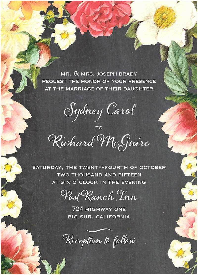 Floral Wedding Invitations 6 totally Fab Floral Invites and Save the Dates for