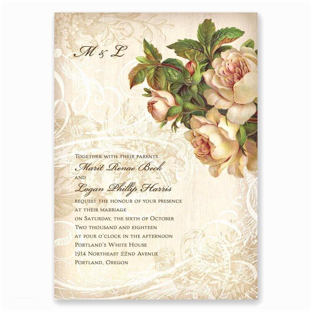 Floral Wedding Invitations Boho Flowers Invitation