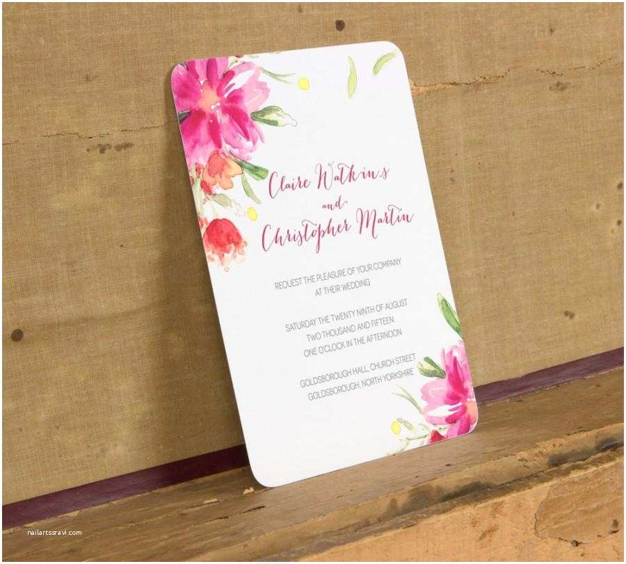 Floral Wedding Invitations Modern Bright Floral Wedding Invitation Template Modern