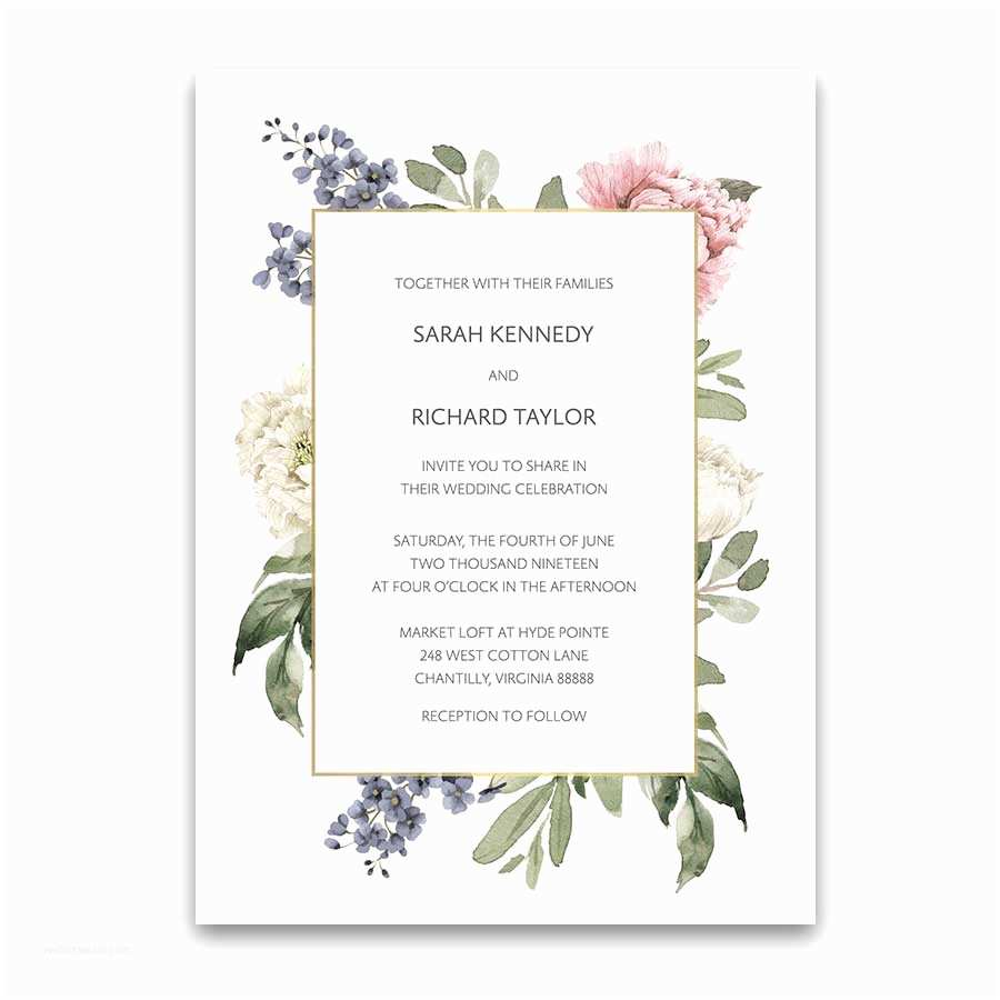 Flower Wedding Invitations Floral Wedding Invitations 2018 Wedding Trends Collection