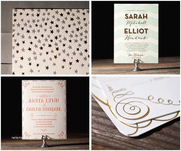 Foil Pressed Wedding Invitations 2013 Wedding Trends Foil Stamped Invitations