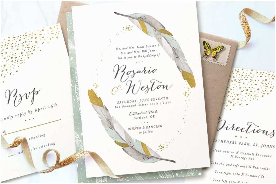 Foil Pressed Wedding Invitations $350 Giveaway From Minted