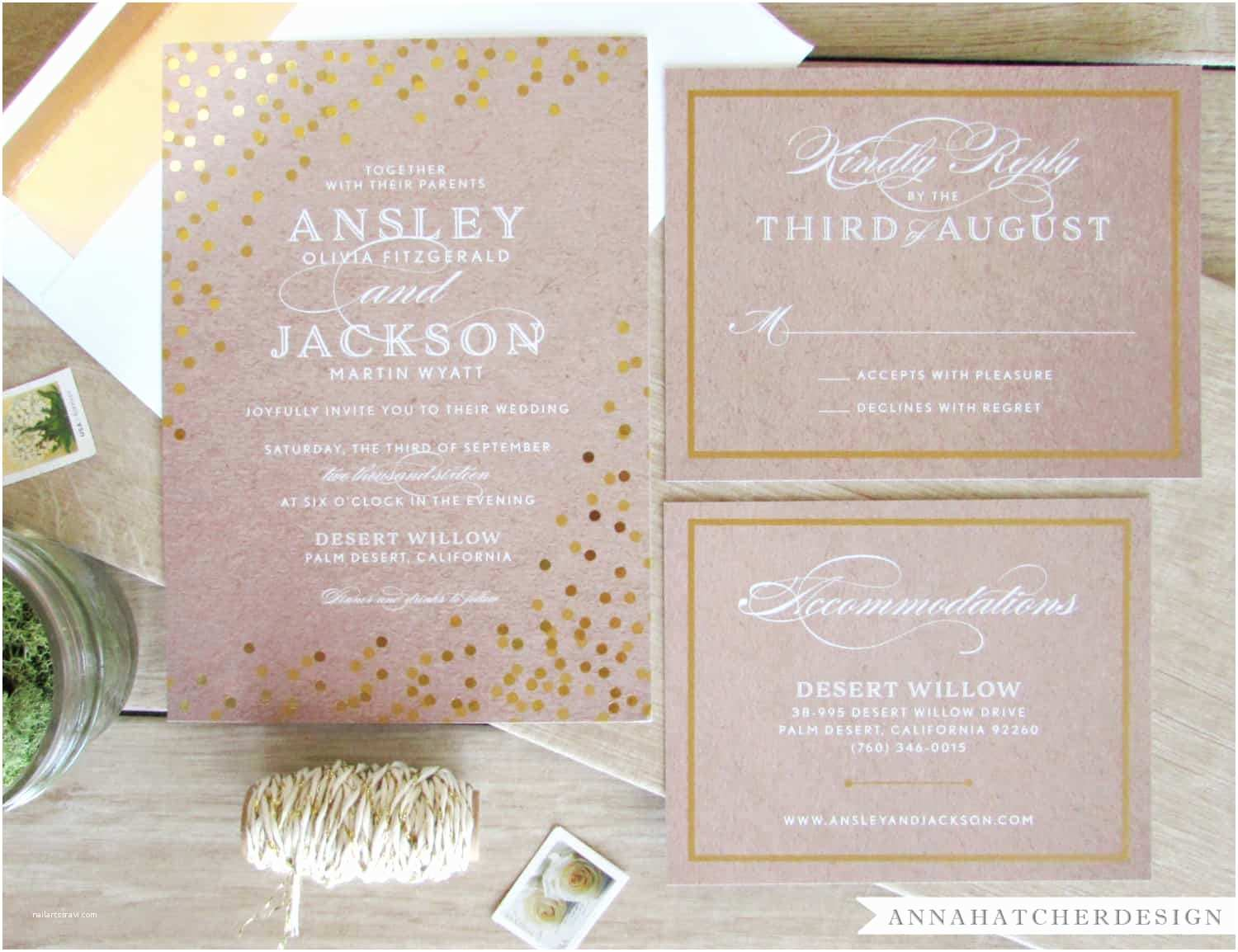 Foil Pressed Wedding Invitations Create Own Foil Pressed Wedding Invitations Templates