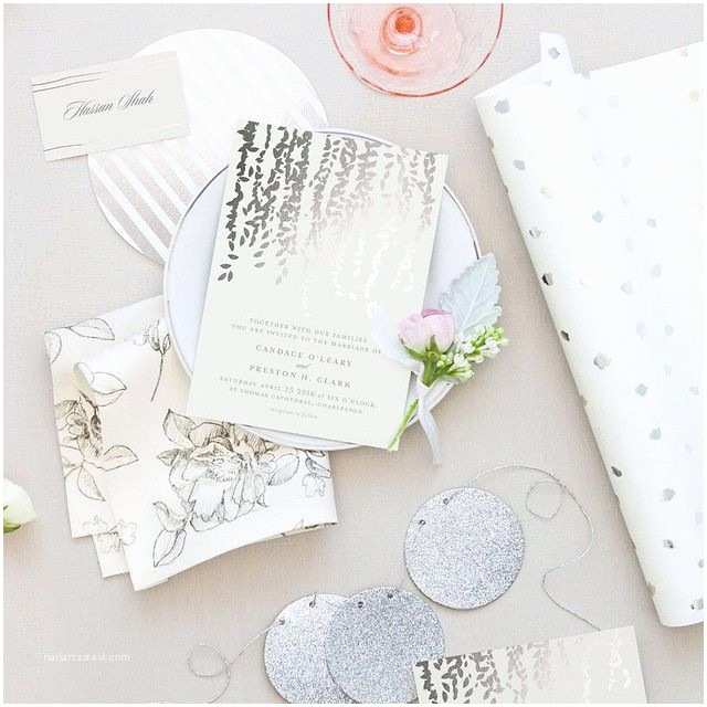 Foil Pressed Wedding Invitations Dazzle them with Foil Pressed Details Shop Minted S