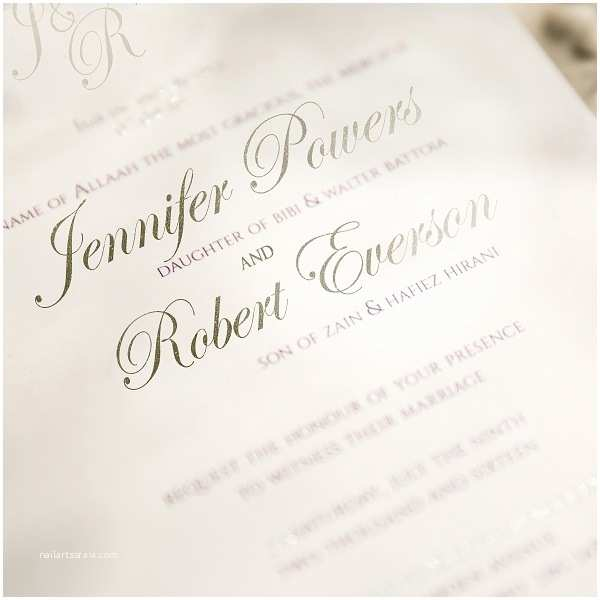 Foil Pressed Wedding Invitations Elegant Purple and Silver Laser Cut Foil Stamped Wedding