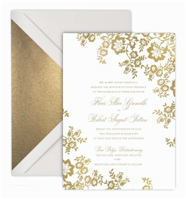 Foil Pressed Wedding Invitations Foil Pressed Wedding Invitations Luxury Wedding