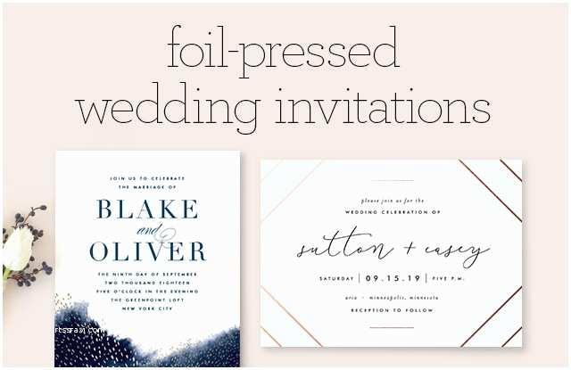 Foil Pressed Wedding Invitations Foil Pressed Wedding Invitations