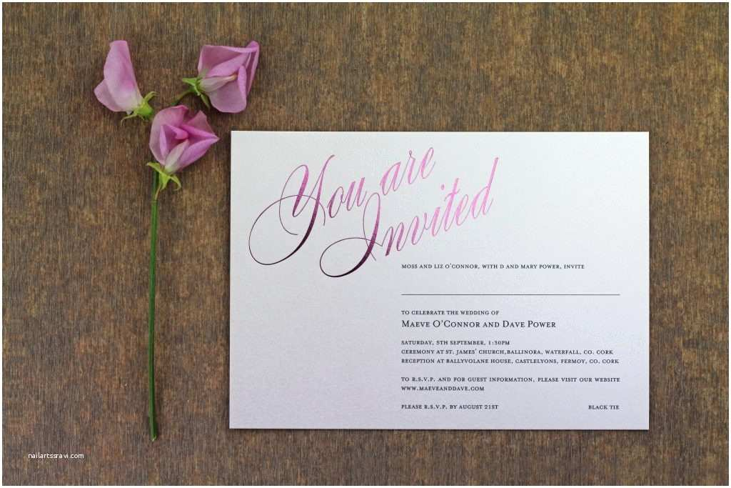 Foil Pressed Wedding Invitations Gallery the Foil Invite Pany