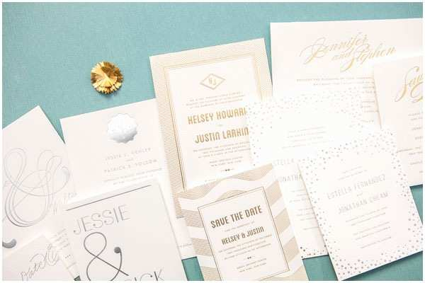 Foil Pressed Wedding Invitations Gorgeous Gold Silver Foil Stamped Wedding Invites