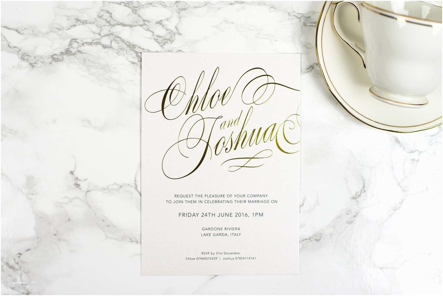 Foil Pressed Wedding Invitations Script Invitation the Foil Invite Pany