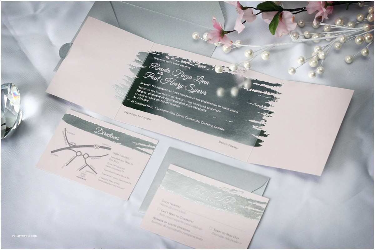 Foil Pressed Wedding Invitations Silver Foil Stamped Wedding Invitations Impressions