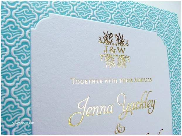 Foil Print Wedding Invitations Foil Stamp Letterpress Invitation Designs
