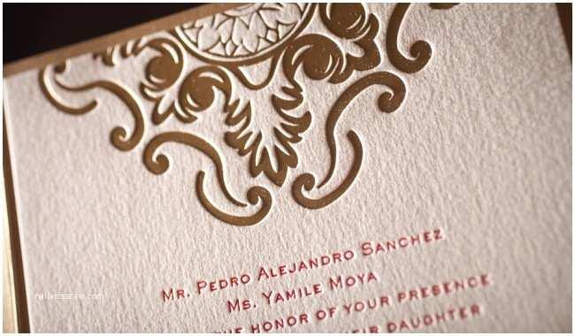 Foil Print Wedding Invitations Foil Stamped Wedding Invitation No