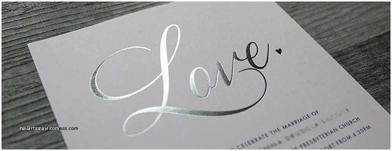 Foil Print Wedding Invitations Wedding Invitation Beautiful Black and White