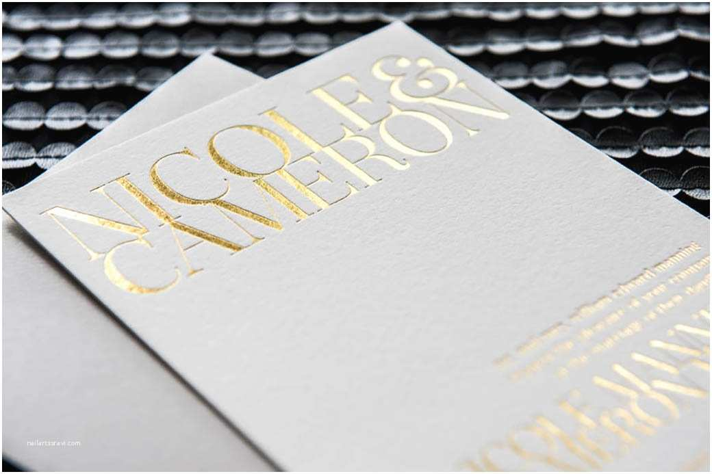 Foil Print Wedding Invitations What is Foil Stamping Paperlust
