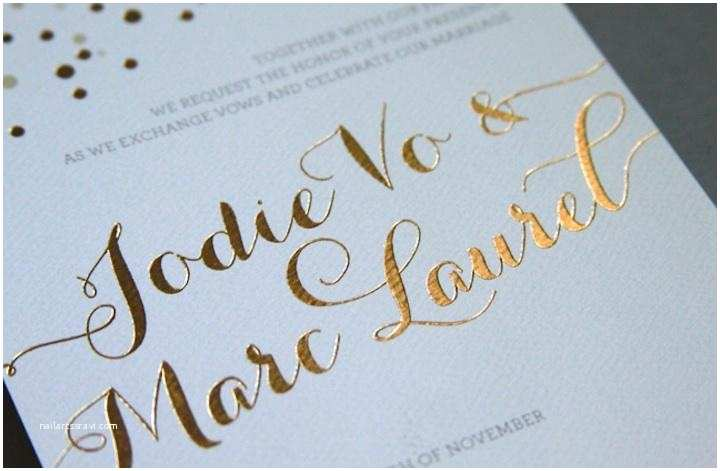 Foil Stamped Wedding Invitations A Guide to Wedding Invitation Printing Techniques