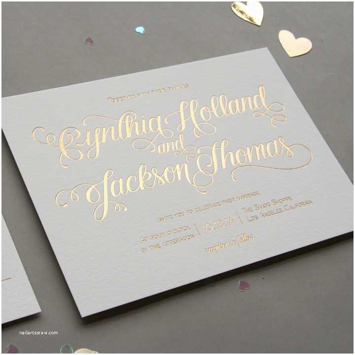 Foil Stamped Wedding Invitations Awe Inspiring Foil Stamped Wedding Invitations
