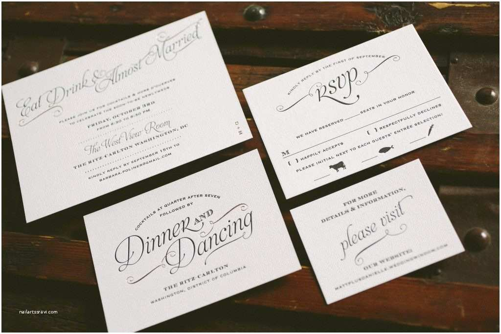Foil Stamped Wedding Invitations Black and Rose Gold Foil Stamped Wedding Invitations