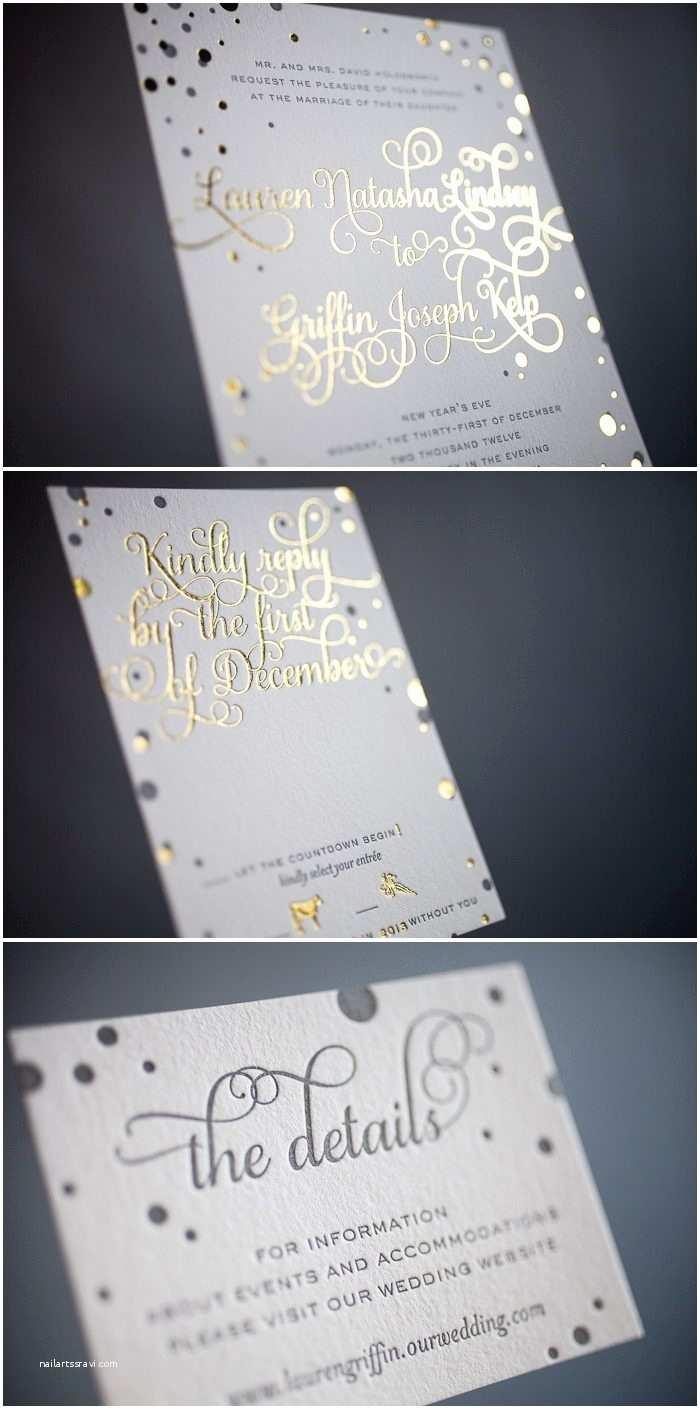 Foil Stamped Wedding Invitations Custom Designed Letterpress and Foil Stamped Invitations