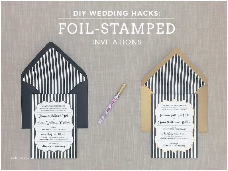 Foil Stamped Wedding Invitations Diy Foil Stamping Invitations Cobypic