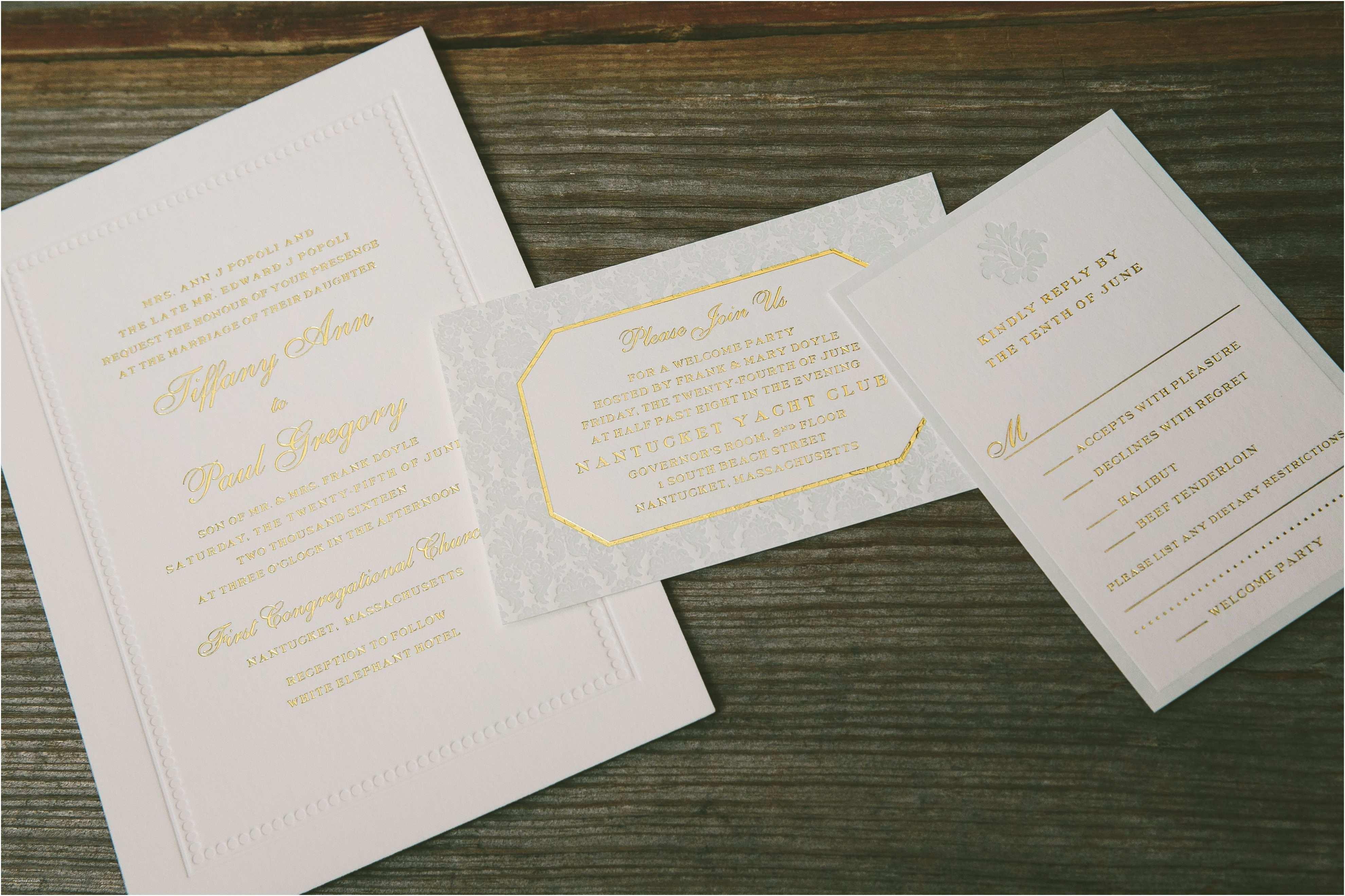 Foil Stamped Wedding Invitations Foil Stamping Smock