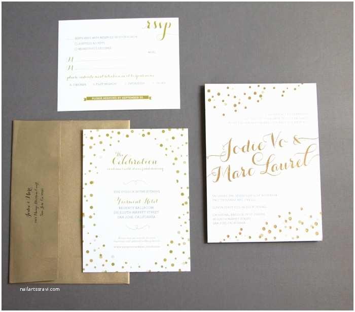 Foil Stamped Wedding Invitations Gold Foil Stamped Wedding Invitation