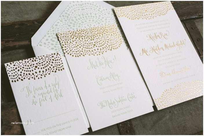 Foil Stamped Wedding Invitations Letterpress Foil Smock