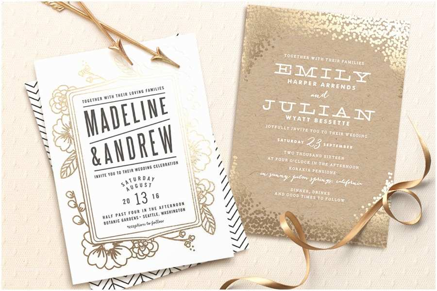 Foil Wedding Invitations $350 Giveaway From Minted