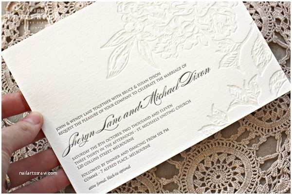Foil Wedding Invitations Cheap Embossed Wedding Invitations with Beautiful and Best