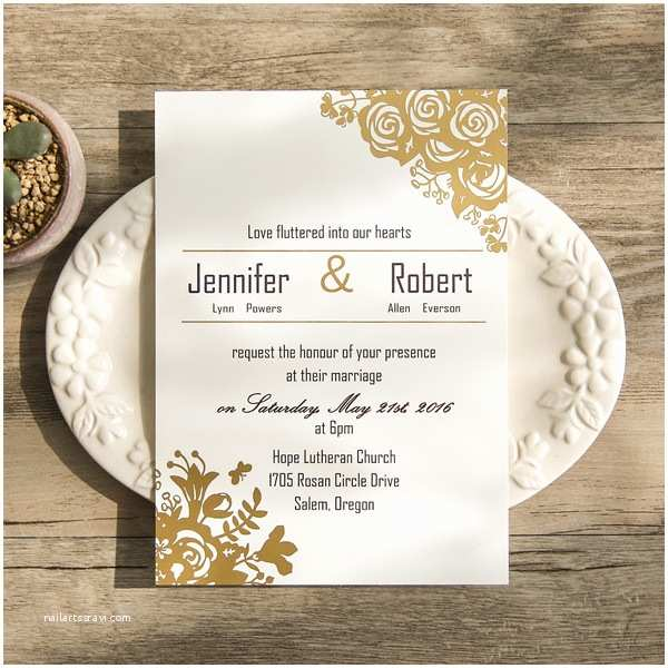 Foil Wedding Invitations Cheap Foil Wedding Invitations