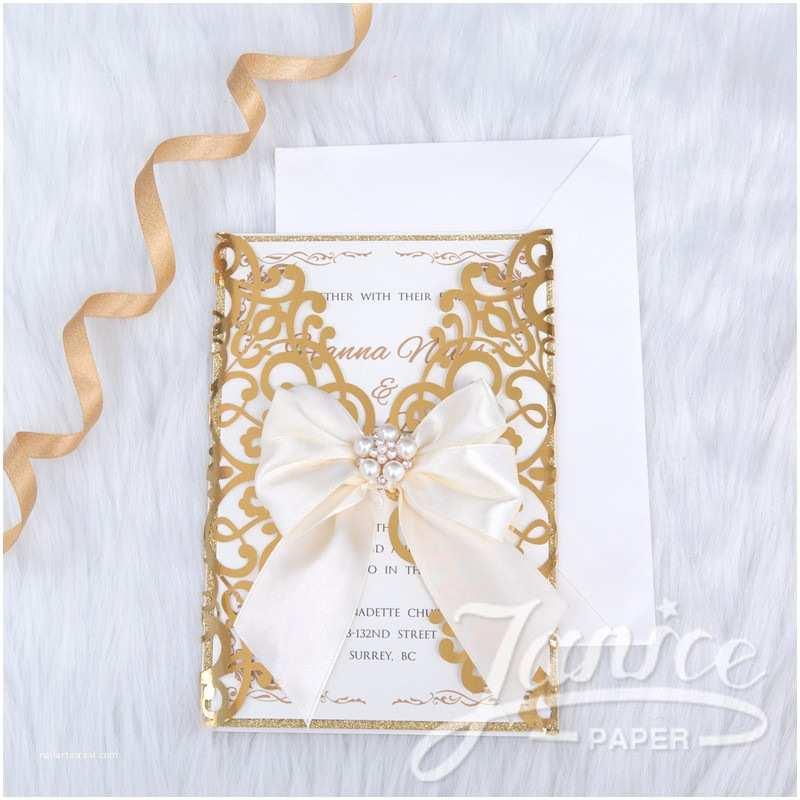 Foil Wedding Invitations Cheap Gorgeous Lace Foil Laser Cut wholesale Wedding Invitation