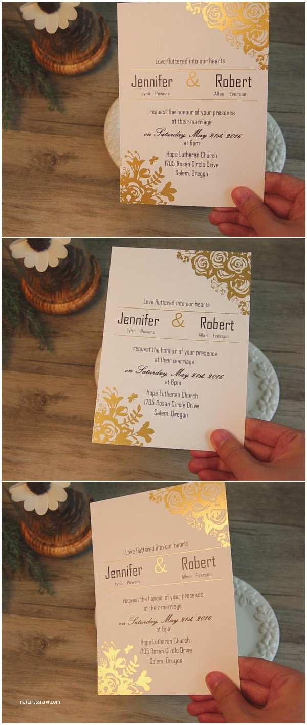 Foil Wedding Invitations Cheap Smitten with 12 Gorgeous Wedding Invitations with Gold