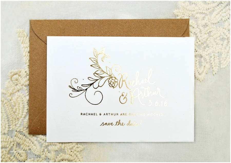 Foil Wedding Invitations Flora Foil Wedding Invitation by Annie Nettle