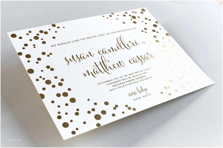 Foil Wedding Invitations Gold Foil Wedding Invitations Elegante Press