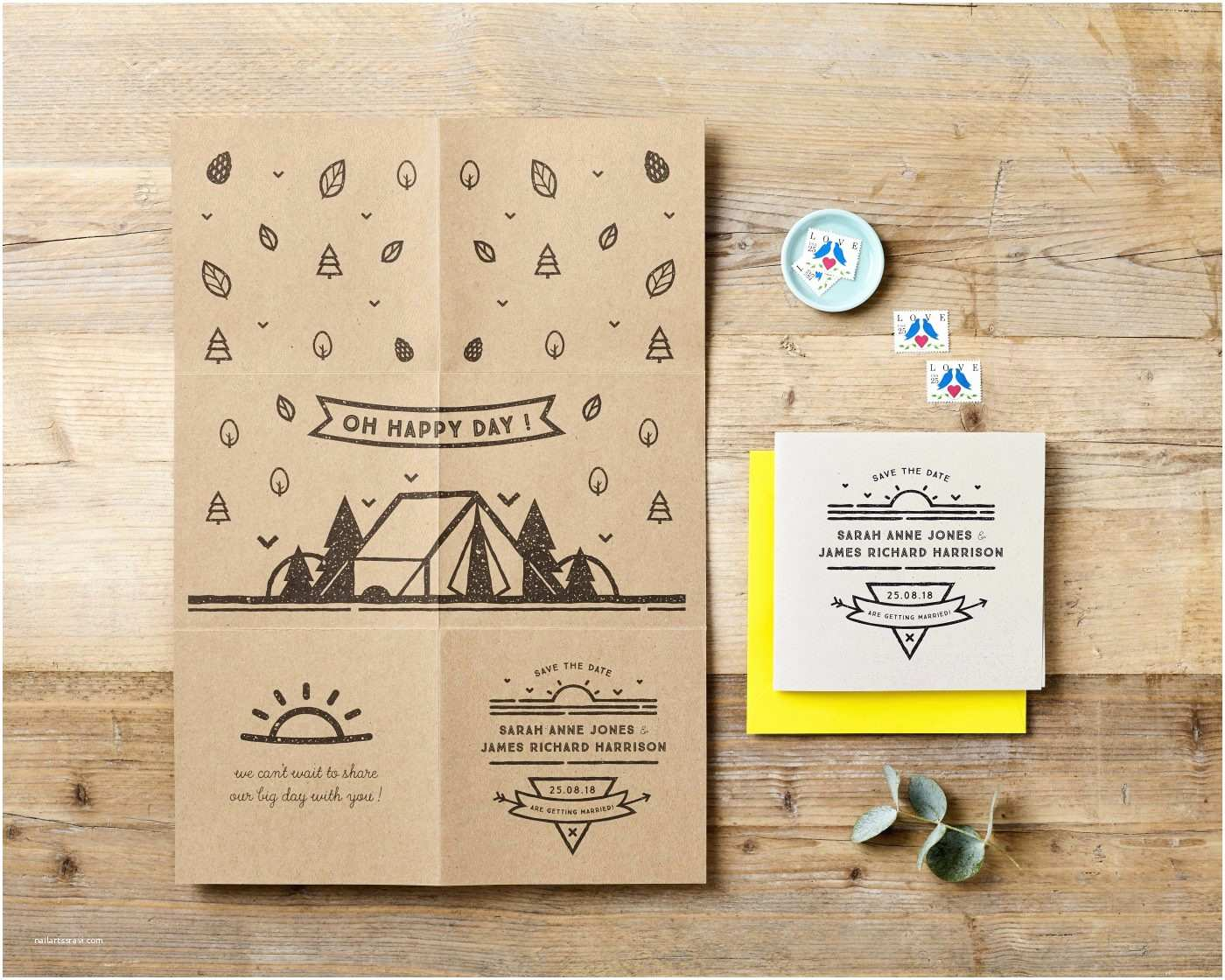 Fold Out Wedding Invitations Rustic Fold Out Wedding Invitation Poster – Doodlelove