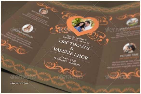 Folded Wedding Invitations 21 Trifold Wedding Invitation Templates – Free Sample