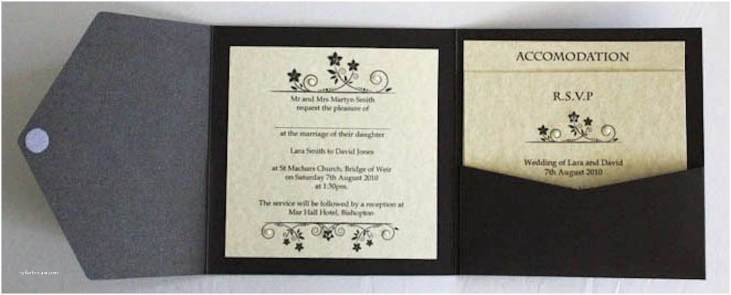 dreaded folded wedding invitations