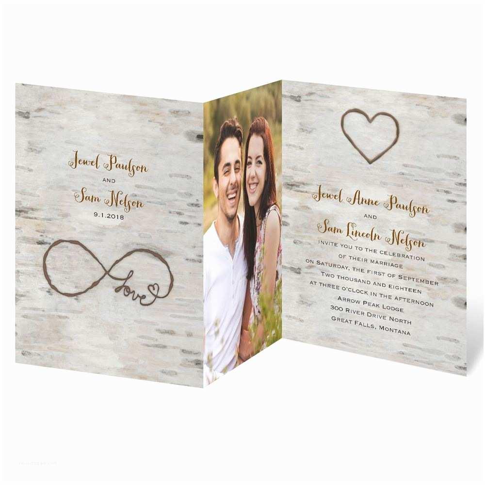 Folded Wedding Invitations Love for Infinity Zfold Invitation